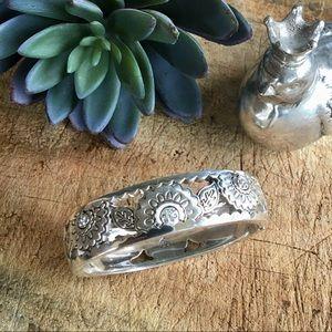 Brighton Silver Magnetic Clasp Bangle Bracelet